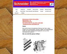 Bild Verlinkung Website http://schreiner-schneider.de