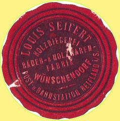 Bild: Seifertmühle Wünschendorf Siegelmarke