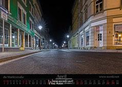 Schönes Rudolstadt, die Marktstraße bei Nacht