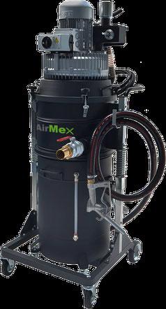 AirMex OS-200 Öl- und Spänesauger Industriesauger für Öl und Späne Kühlschmiermittel CNC