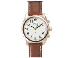 GRUSボイス電波腕時計 ホワイト×ブラウン GRS003-04