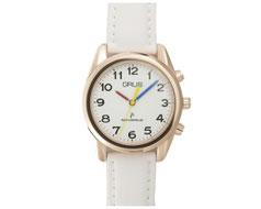 GRUSボイス電波腕時計 ホワイト×ホワイト GRS003-05