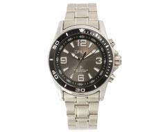 GRUSボイスソーラー電波腕時計 ブラック×シルバー GRS004-02