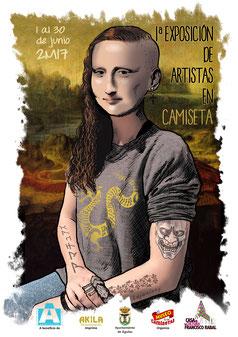 """Cartel 1ª Exposición """"Artistas en Camiseta"""""""