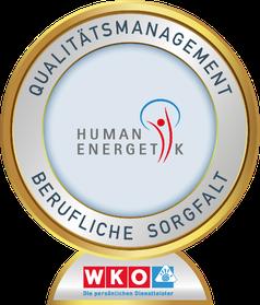Ich freue mich, dass ich mit dem Qualitätssiegel für berufliche Sorgfalt von der WKO ausgezeichnet wurde.