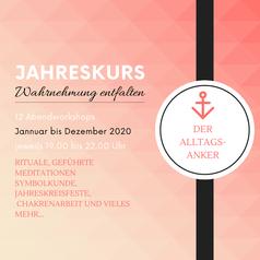 Der Alltagsanker - ein Jahreskurs mit Eva Hochstrasser