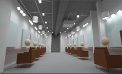 美容室 お客様の明るさまで照明設計に反映