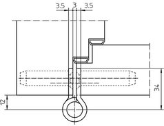 Paumellenband SIMONS VN2828/120