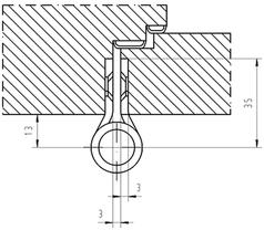 Paumellenband GLUTZ STN12156FB