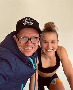 Julia Mayer Vincent Vermeulen training therapy Ramsau am Dachstein Radfahren e cycling league