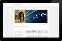 Webseite Edward & Son München Solln