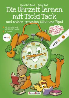 Die Uhrzeit lernen mit Ticki Tack - das Buch zur Uhr - die Uhr zum Buch!