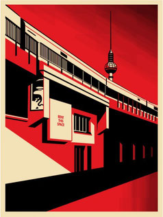 Shepard Fairey Berlin Tower