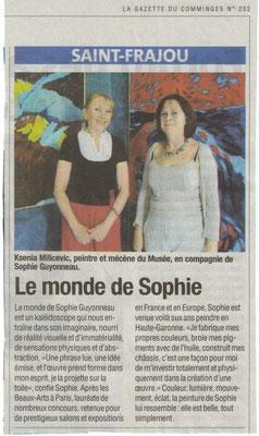 Sophie Guyonneau, La Gazette 10/10/2012