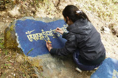 Helambu, Trekking, Mantra, Bhuddist, Tibetisch, Om mani padme hum