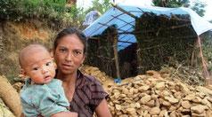Kinder,Not,Zerstörung,Nepal,Familie