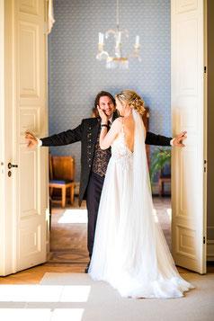 Brautpaar Ute & Daniel im Jenisch Haus Hamburg