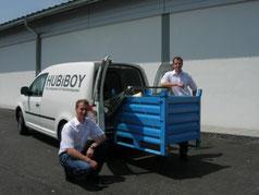 Die Erfinder von HUBiBOY, das Verladesystem für Kleintransporter, Roger Stauffer und Dominik Stauffer