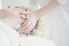 massage cranien tête visage ayurveda