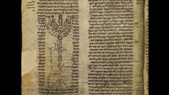 Rashi Menorah. Medieval Commentary on Exodus 25 by Solomon ben Isaac. France. Drawing of the Menorah
