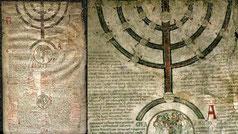 Histoire sainte  abrégée. Compedium, candlestick seven branches menorah