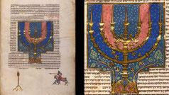 menorah Maimonides' Mishneh Torah, mediaeval Hebrew art, Budapest MS Kaufmann A 77