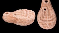 100BC - 200AD. Ancient Holy Land seven armed Menorah