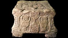 Magdala Stone menorah Second Temple Jerusalem Israel 70 AD CE, synagogue Magdala