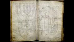 Aaron menorah, Franconian Bible (Franken-Bibel), South Germany, Franconia
