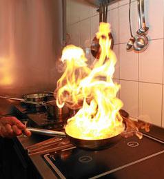 Flambiertes Essen