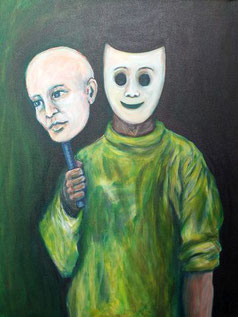 Mein wahres Gesicht, Acryl auf Leinwand, 60 cm x 80 cm, 2017