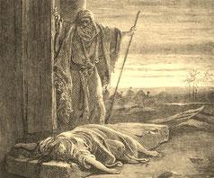 La femme du Lévite violée, illustration de Gustave Doré.