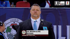 Luc Briand, arbitre international A,  club de judo Seikidokan