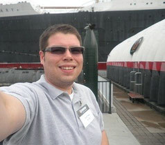 Ryan outside of the Queen Mary
