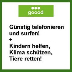 goood.de günstig Surfen und Telefonieren und einen guten Zweck unterstützen