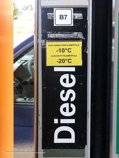 Winterdiesel tanken in Finnland tanken.