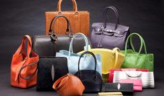Collection de sacs de luxe en cuir