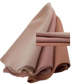 vintage fur felt cones, 3 grades of rosé shades
