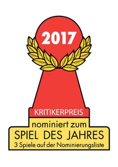 nominierten Brettspiele zum Spiel des Jahres 2017