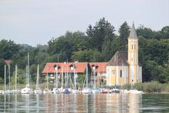 Unser Treffpunkt: Kapelle in St.Alban bei Dießen