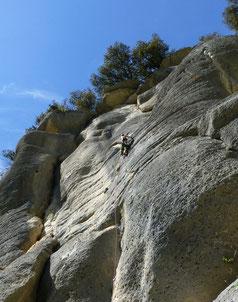 Klettern, Buoux, Provence, Südfrankreich, Le Condor