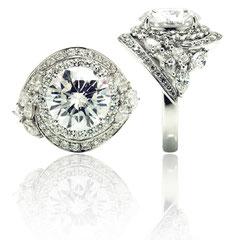 ダイヤのリングです。