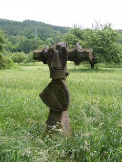 Das Steinkreuz am Neckar - nahe Hirschhorn