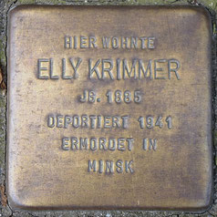 """""""Stolperstein"""" für Elly Krimmer"""