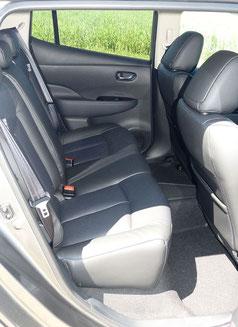 Platzverhältnisse Nissan Leaf