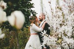 Brautkleid rosa schleife seidentaft berlin