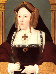 Katherine of Aragon wearing a GABLE HOOD (flickr, picture by Lisby)