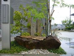 植栽・石工事施工事例 奈良県大和高田市 アオダモ