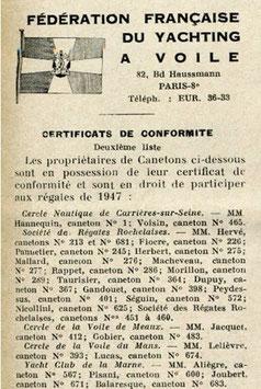 Le Yacht n°3037 du 22 février 1947