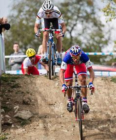 Francis Mourey (v.) und Philipp Walsleben sind Top-Favoriten beim Auftakt in Baden ©EKZ CrossTour